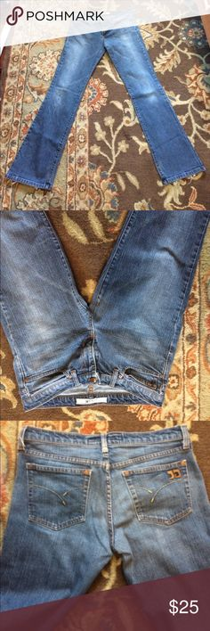 Joe's jeans Made in USA! Good used condition--some wear on butt and hems. Inseam 33. Size 30 but fits like a 29. Trades and offers always considered. Joe's Jeans Jeans Boot Cut
