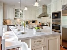 Hamptons Style Kitchen Designs | Kitchen From Hampton Design Interiors  Exemplifies The Trend Toward .