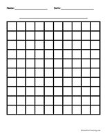 10 By 10 Blank Graph Paper: Three different types of 10 by 10 printable graph paper. Information: 10 by 10 Blank Graph Paper.