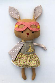 Superhero bunny by La Loba Studio #bunny #rabbit #easterbunny #usagi #superhero