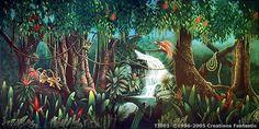 Tropical Jungle Backdrops For Events Tropic Jungle, Psd Flyer Templates, Tropical Birds, Mystic, Backdrops, Surfing, Digital Art, Australia, Fantasy