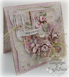 Tattered Treasures: Sing your Song Card for Frilly and Funkie Challenge!