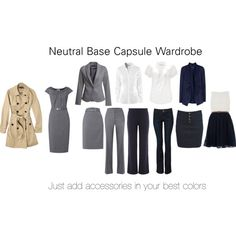Neutral Base Capsule Wardrobe