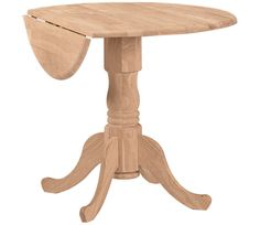 Our new oak round table with two leafs - repaint white on the bottom and stain dark brown on top