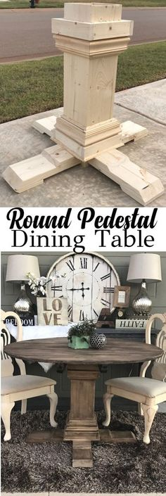 HOW TO: DIY Round Pedestal Table - Annie Sloan Old Ochre