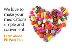 Learn about Pill Pack Plus to make your medications simple and convenient! Pharmacy, Medical, Make It Yourself, Learning, Simple, Health, How To Make, Health Care, Medicine