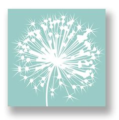 Dandelion Art Wall Mod Decor Print
