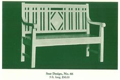 "Pretty garden bench from ""The Pergola,"" by Hartmann Sanders, published in 1928."