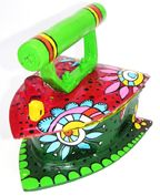 Hand Painted coal Iron can be used as Jewelry Box