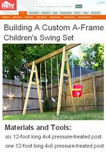 12+ Free Swing Set Plans | How to Build a Swingset