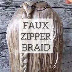 The post Zipper braids hair tutorial appeared first on Kinder Mode. Hair Styles 2016, Medium Hair Styles, Curly Hair Styles, Zipper Braid, Hair Upstyles, Short Thin Hair, Hair Videos, Hairstyles Videos, Hair Hacks