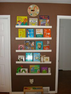 kids wall book shelf | ... wall art by displaying them on easy-to-install shallow shelves. Rotate