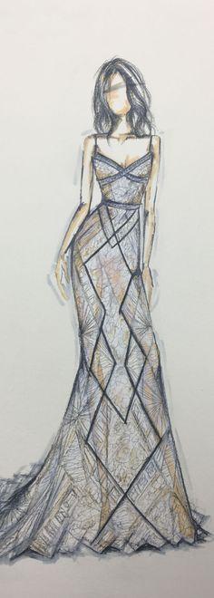 Stunning #BERTA sketch <3 #FashionSketches