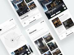 Modern House App - IPhone X Screens