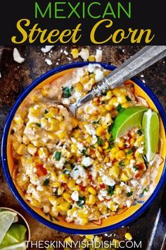 My Mexican Street Corn recipe is an easy and fast side dish to make up on your next taco night It's creamy, delicious and ready in just 5 minutes! mexicanstreetcorn corn ww is part of Mexican street corn recipe - Taco Side Dishes, Healthy Side Dishes, Food Dishes, Spanish Side Dishes, Side Dishes With Tacos, Mexican Corn Side Dish, Sides With Tacos, Cheap Side Dishes, Mexican Corn Dip