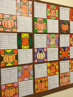 Fall Writing that makes a class Fall Quilt - great display idea for Fall. 7 different writing prompts. $