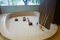 Malvern College Pre-school: The Sand Pit enables wet and dry play