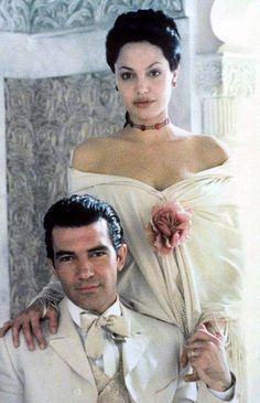 """Angelina Jolie & Antonio Banderas """" Original Sin """" , 2001"""