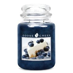 Goose Creek - Blueberry Cheesecake Candles www.presentandcorrect.co.uk  £17.48 plus Free P&P  BurnTime:24oz burns for an approximate 120-150 hours Blueberry Cheesecake The rich aroma of juicy blueberries and cream cheese blend beautifully with a dreamy homemade crust.