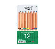 Tombow Recycled Colored Pencils - Assorted Colors - Pack of 12. by niconecozakkaya on Etsy