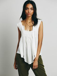 Free People Heirloom Tank at Free People Clothing Boutique