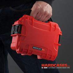 The small Nanuk Case show here is the Nanuk 904. Comes in 9 different colors, including Fire red!