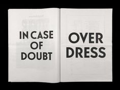 In case of doubt, OVERDRESS