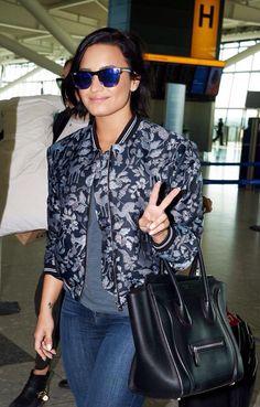 Demi Lovato in the airport in London, United Kingdom - September 10th