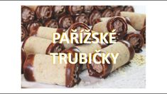 Pařížské trubičky / Helenčino pečení Christmas Cookies, Appetizers, Birthday Cake, Sweets, Healthy Recipes, Dishes, Cooking, Youtube, Food