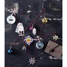 Ornament - 3 stk. Glaskugler med text