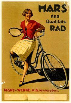 Vintage cycling advertising, via Flickr.