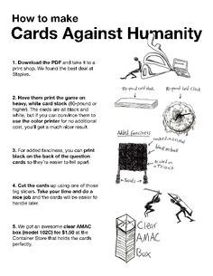 Printable Cards Against Humanity Party Game