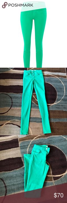 Joe's jeans Mint green skinny Joe's jeans. Stretch material. Size 26. Minimally worn, remain in great condition Joe's Jeans Jeans Skinny