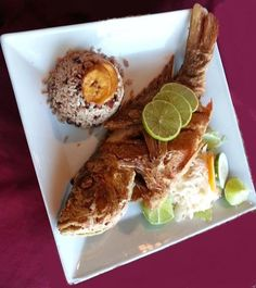 Fry fish with Rice & Beans #Belize