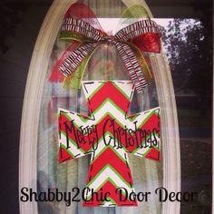 BeLieve Cross Door Hanger Christmas Door by Shabby2ChicDoorDecor, $35.00