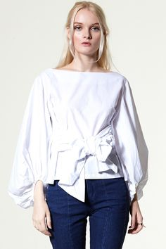 Sinny 2 Way Ribbon Blouse Discover the latest fashion trends online at storets.com