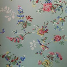 Brighten up any room with Cath Kidston's unique brand of modern-vintage cheerfulness. Design Research, Vintage Room, Rose Wallpaper, Furniture Projects, Stencils, Vintage Fashion, Birds, Set Design, Ceilings