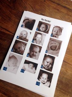 Who's that baby? Quiz for family reunion and other tips