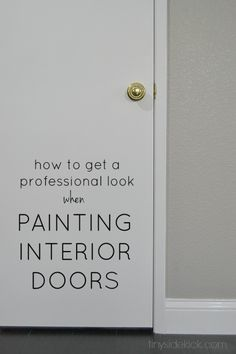 how to get a professional look when painting interior doors