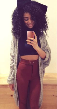 tumblr girl with curly hair - Google Search