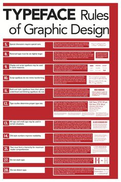 Typeface Rules of Graphic Design - good knowledge for a beginner like me!