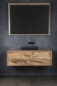 Custom furniture made from recycled and reclaimed Australian timber. Bathroom Inspo, Bathroom Inspiration, Bathroom Ideas, Bathroom Designs, Bathroom Stuff, Design Inspiration, Design Ideas, Bathroom Renos, Bathroom Interior