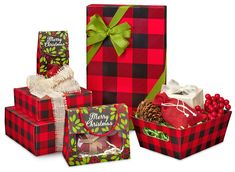 Christmas Plaid packaging from Nashville Wraps.
