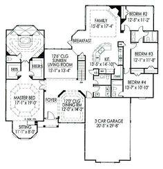 Floor Plan With Sunken Living Room