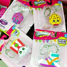 I found these #shopkins figure danglers at Michael's craft store. I've never seen them before and they're really cute!!!