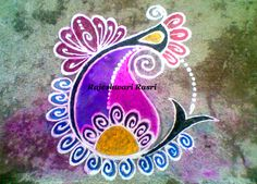 Mango Design Rangoli