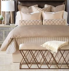 gilded champagne glam bedding gold bedroom