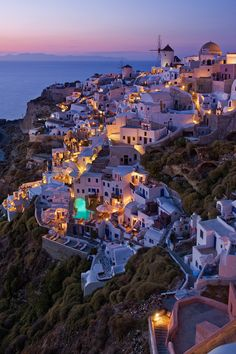 Santorini, Greece... if I could go anywhere in the world, this would be my first choice.