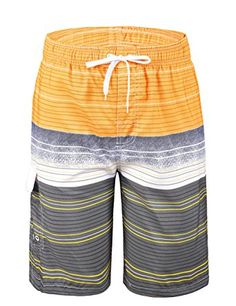f03767541b Unitop Men's Quick Dry Striped Print Swim Trunk Beach Board Shorts Review Mens  Clothing Sale,
