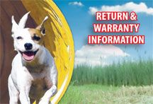 Return & Warranty Information, check it out for all the details.